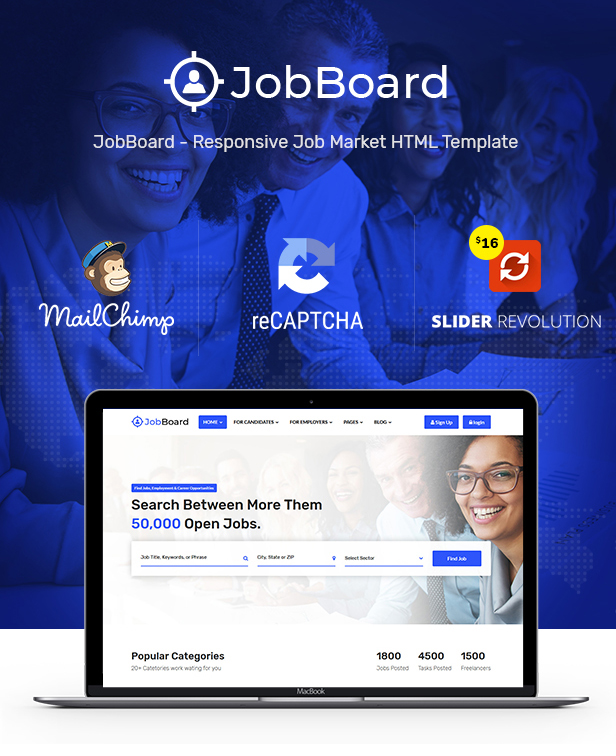 Job Board: Job Portal | Job WebSite HTML Wireframe - 5